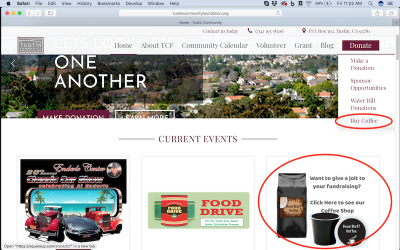 Tustin Community Foundation Helps Groups Raise Funds with FREE Online Coffee Store