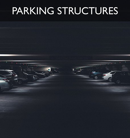 parking structure and parking lot sweeping